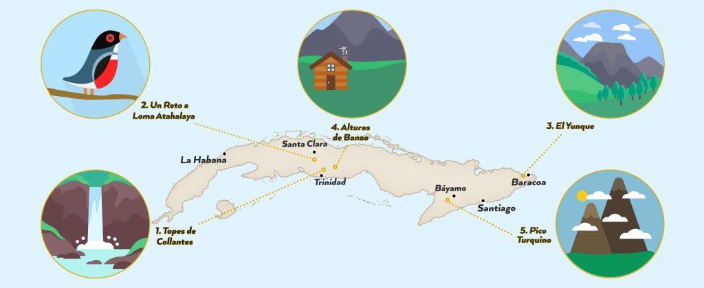 Hiking Cuba Routes