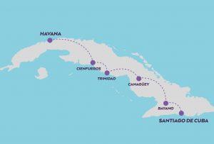 Explore Cuba map