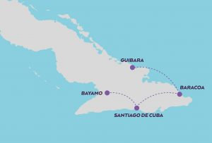 Santiago & Eastern Cuba map