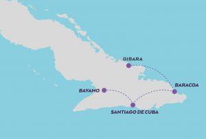 Hidden Cuba Photography Expedition map